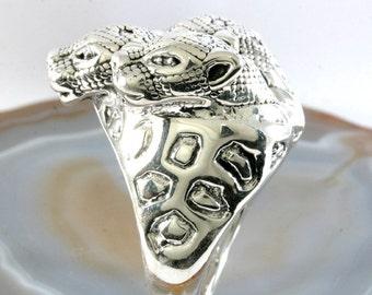 Cheetahs,Ring, 925 sterling silver, electroforming - 3015