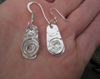 Sterling silver earrings with spirals