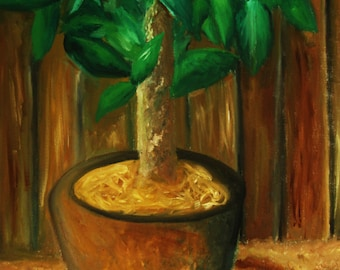Plant Oil Painting Original or Prints