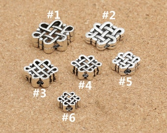 Sterling Silver Celtic Beads, Sterling Silver Celtic Knot Beads, 925 Sterling Silver Spacer Beads - F135