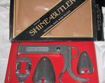 Shine Butler in Box, Shoe Shine Holder, Vintage