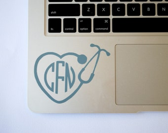 Nursing Monogram Decal