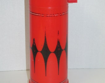 Vintage Red and Black Aladdin Thermos