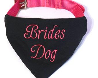 Wedding Dog Collar Bandana - Bridesmaid Dog Bandana - Dog In Wedding - Brides Dog - Dog Wedding Outfit - Pet Wedding - Dog Wedding Prop