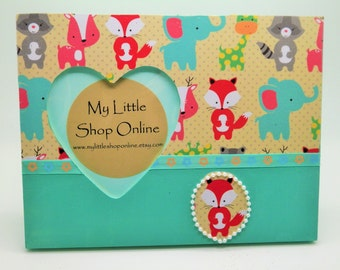 Embellished Handmade Woodland Creatures Picture Frame/Nursery Picture Frame