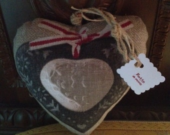 Handmade linen hearts