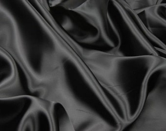 Black and White Satin elastic 10% stretch for lining