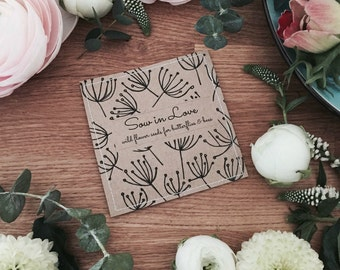 Wedding Wild Flower Seed Packet Favours