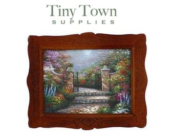 Miniature Framed Paintings by various famous artists with or without easel SUPPLIES
