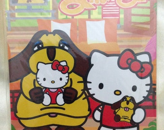Rare Hello Kitty x St. Bernard Dog Japan Exclusive Memo Pad Gotochi / Regional / Kawaii + Bonus!