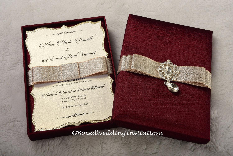 Wedding Invitation In A Box: Couture Wedding Invitation Box