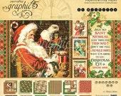 SALE!! NEW!! Graphic 45 St. Nicholas 12x12 Paper Pad, SC007645