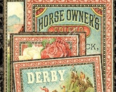 SALE!! NEW!! Graphic 45 Off To The Races Ephemera Cards, SC007678