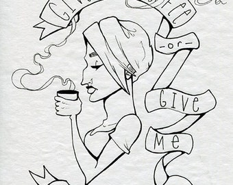 Coffee or Death - Ink