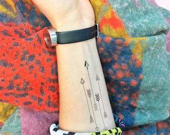 Arrows - Temporary Tattoo (Set of 2)
