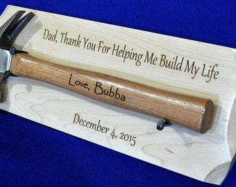 Gift For Dad ~ Birthday For Dad ~ Engraved Hammer ~ Engraved Gifts For Men ~ Step Dad Gift ~ Grandpa Gift ~ Personalized Gifts ~ Man Cave ~