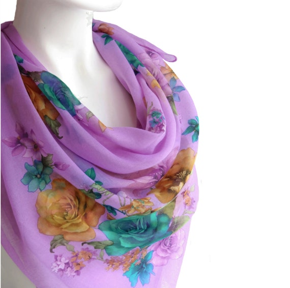 large cotton scarf large square scarf pale by