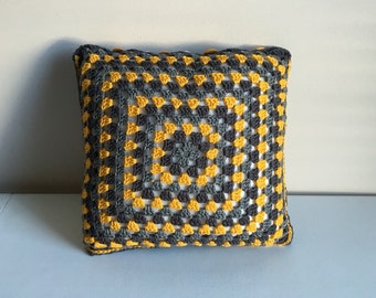 Decorative Yellow and Gray Pillow