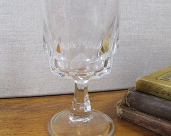 ARC Glass Goblet - Pedestal Base - Made in France