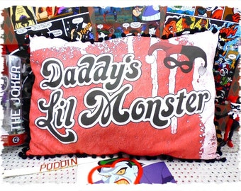 Harley Quinn- Daddy's Lil Monster Cushion