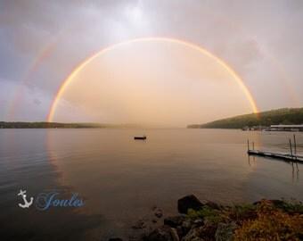 Circle of Life ~ Lake Winnipesaukee, Meredith, New Hampshire, Church Landing, Lake Photography, Rainbow, Wall Decor, Joules, Artwork