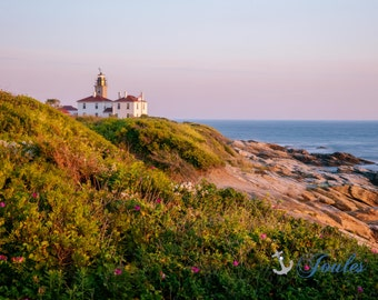 Limited Edition ~ Beavertail Lighthouse ~ Jamestown, Rhode Island, Fine Art Canvas, Artwork, New England, Seascape, Coastal,Fine Photography