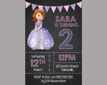 Personalized Princess Sophia the First Birthday Invitations Personalised Kids Party Invites