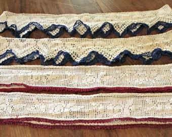 Vintage Crochet Pillowcase Edgings