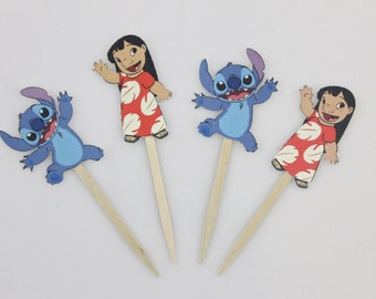 Lilo & Stitch Cupcake Toppers - Set of 12