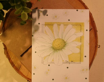 Greeting card, Marguerite!
