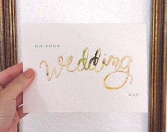 Wedding Day / Bridesmaid / Marriage / Gift / Congratulations Card