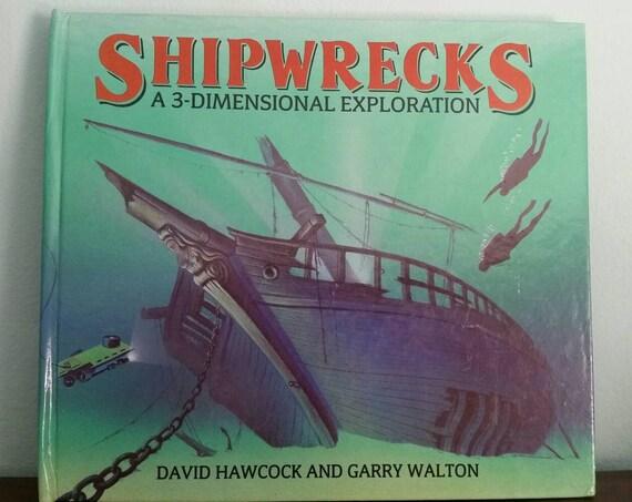 Shipwrecks by David Hawcock and Garry Walton, vintage pop up children's book