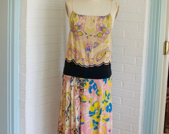 Vintage Tie Maxi Dress by Betsey Johnson