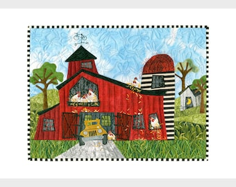 Barn Hens Collection -- 10 Artwork Note Cards of Chickens in Barns