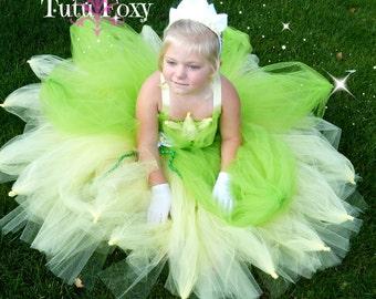 Tiana Tutu Dress, Frog Princess Tutu Dress, Frog Princess Costume, Tiana Costume, Frog Princess Birthday Outfit, Tiana Birthday Outfit
