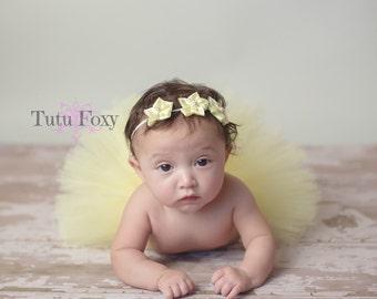 Yellow Newborn Tutu, Yellow Newborn Tutu set, Yellow Baby tutu, Yellow Tutu Set, Yellow Tutu with Headband