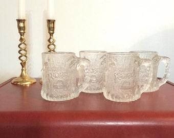 Flintstones Glasses / McDonald's Flintstones Mugs / Frosted Flintstones Glasses / 1993 Flintstones Glasses / Flintstones Collectibles /