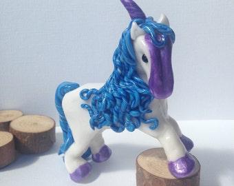 Little Unicorn. Polymer Clay Unicorn, Magic, Pony, Horse, Enchanted Forest, Fairytale, Myth, Polymer Clay Pony, Handmade,OOAK, Horse Lover
