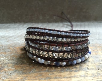 Lillian Beaded Wrap Bracelet