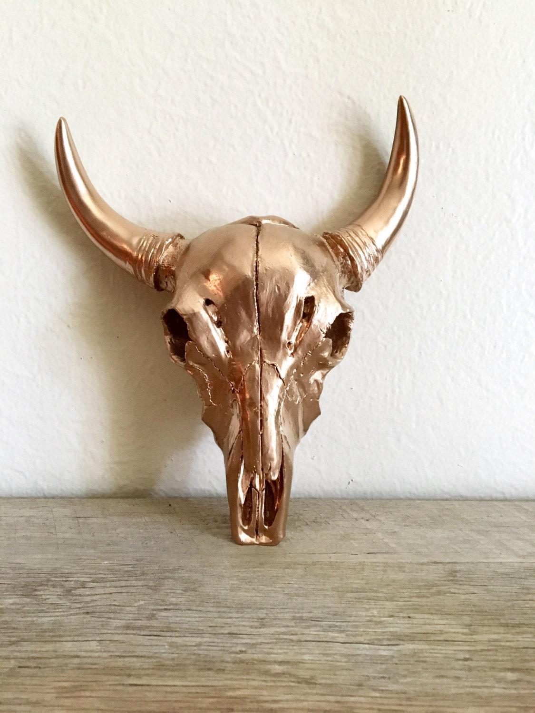 Download Copper Cow Skull Copper Decor Faux Taxidermy Skull Decor