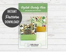 Instant Download PDF Pattern for Quick and Simple Large Tote // Stylish Sturdy Tote // Can Make with kraft·tex™, Recycled Jeans & More!