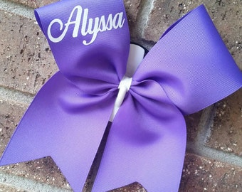 Custom cheer bow, cheer bows,  personalized with name - CHOICE OF COLORS