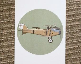 LVG C.VI Biplane Illustration