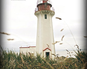 Old Red and White Lighthouse, Greeting Card, Blank Card,  Fine Art Photography, 5x7