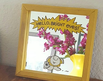 Hello Bright Eyes! Vintage Ziggy Mirror