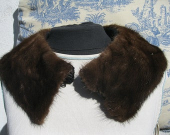 Mink Neck Warmer ,Vintage Fur Collar,SALE 9.00