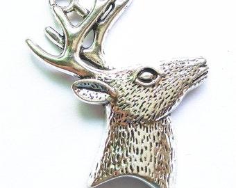 44x59mm Deer Head Charm Pendant Findings LJ