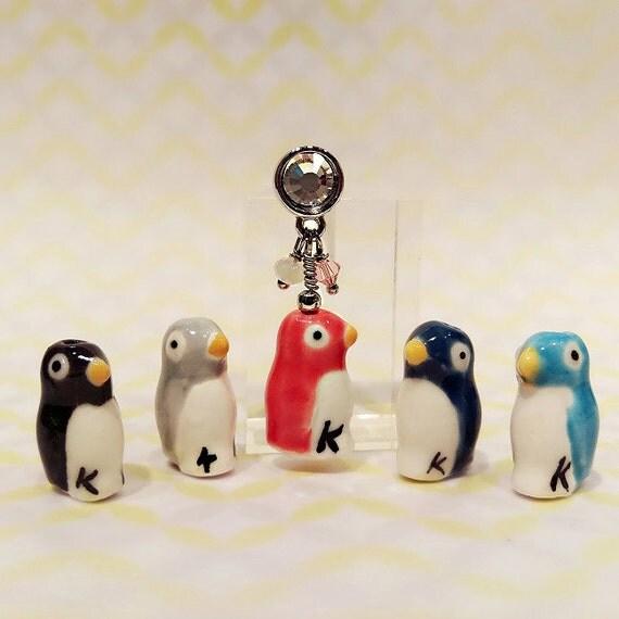 Amigurumi Penguin Cell Phone Strap : Penguin Cell Phone Charm Handmade Cell Phone Dust Plug Cell