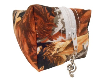 Horse Cosmetic Bag, Make Up Bag, Pencil Case, Pouch, Mulicoloured