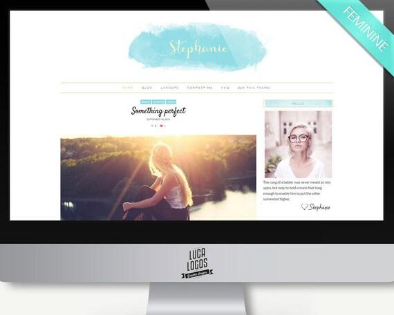 thème WordPress Stéphanie par Lucalogos
